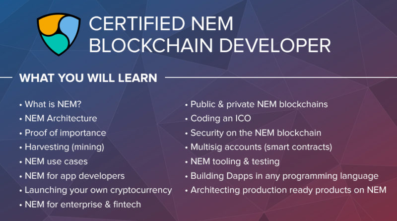 Certified NEM Blockchain Developer